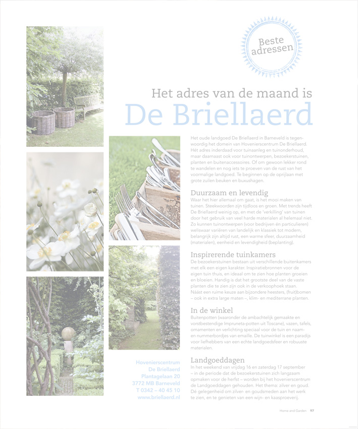 3. Publicaties Hovenierscentrum De Briellaerd Barneveld S